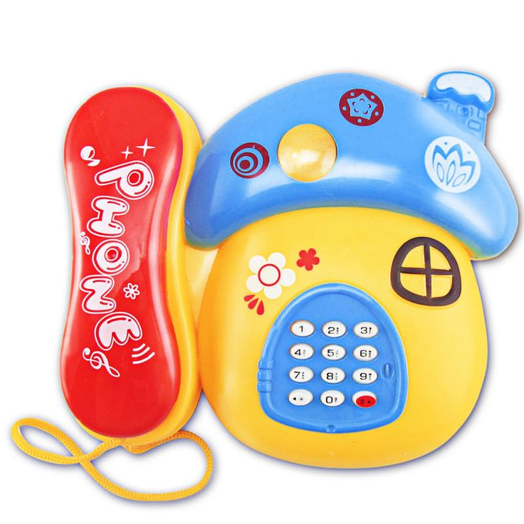 Baby Toys with Sound and Light Children Musical Electronic Phone Toys Cartoon Mushrooms Baby Mobile Toys for Kids Random Color