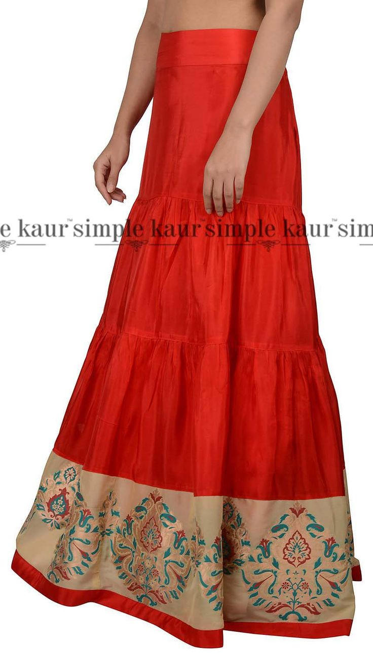 Festivities come closer and the weather changes slowly. Ethnic silk skirts become the rage the season. Mix and match to add versatility to your wardrobe.  Shop on at  http://www.simplekaur.com/Singles/Red-Silk-Gathered-Single-Skirt-id-2534689.html or visit Simple Kaur SCO 481, Sector 35 C, Chandigarh.