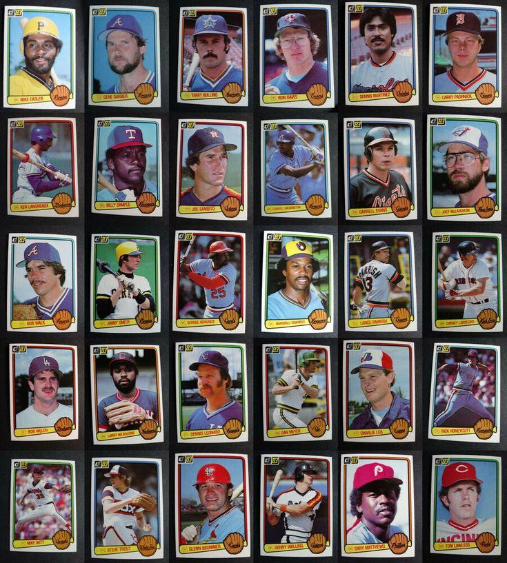 1983 donruss baseball cards complete your set you u pick