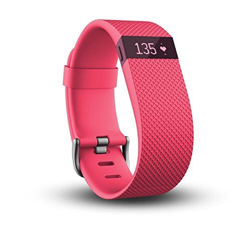 Fitbit Charge HR, Pink, Large - http://www.exercisejoy.com/fitbit-charge-hr-pink-large/fitness/