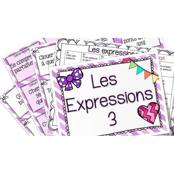 Les expressions 3 - Cartes à tâches