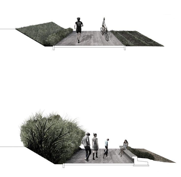 01_PASSERELLA CICLOPEDONALE SUL TORRENTE EGOLA IN LOC. MOLINO D'EGOLA | concorso di idee | Studio Galluzi Associati sezioni | passeggiata