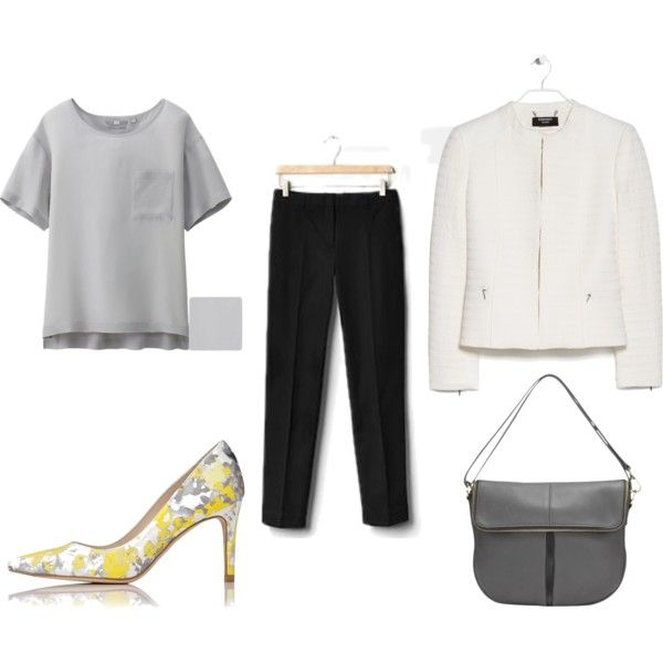 Truly straight by theworkwearedit on Polyvore featuring Uniqlo and MANGO
