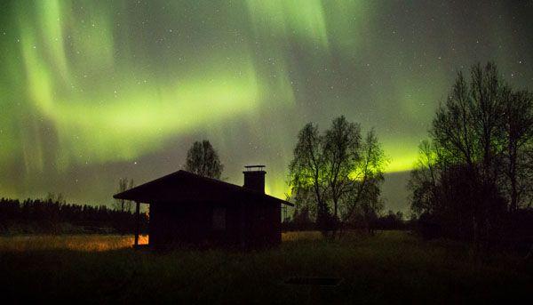 Northern lights, Lapland, Finland www.haaraamo.fi