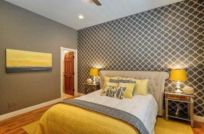 Habitaciones Gris Blanco Y Amarillo