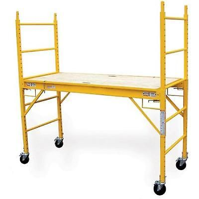 Multipurpose Scaffolding 6 Feet Wooden Deck Steel Frame Work Platform Scaffold
