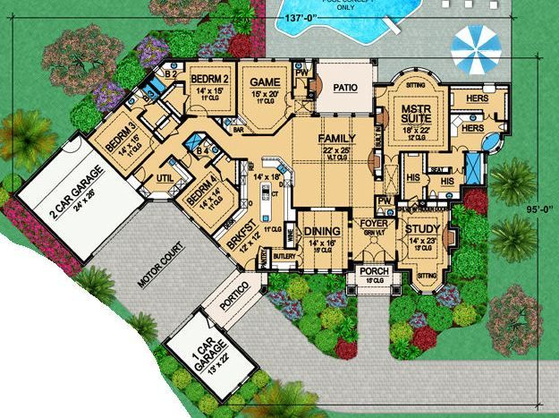Hazletine House Plan Love The Layout And The Porte