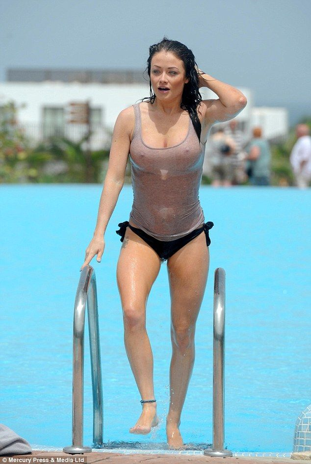 Jess Impiazzi goes braless in wet T-shirt during Cape ...