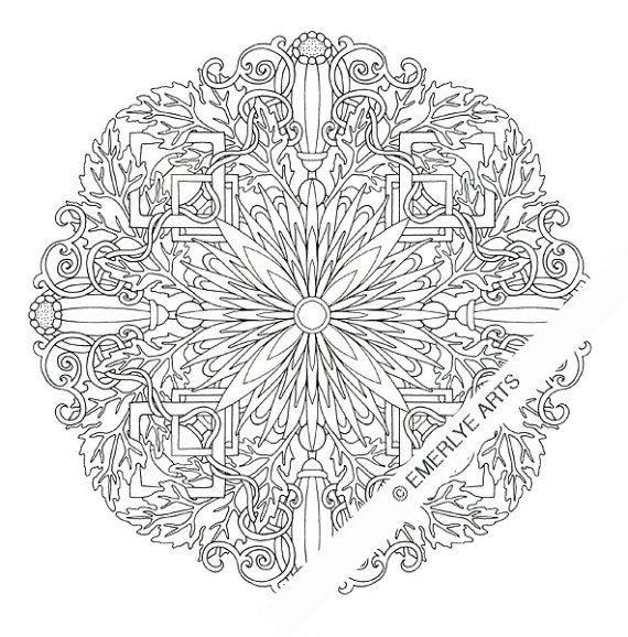 DIGITAL DOWNLOAD. This is a complex coloring page designed ...