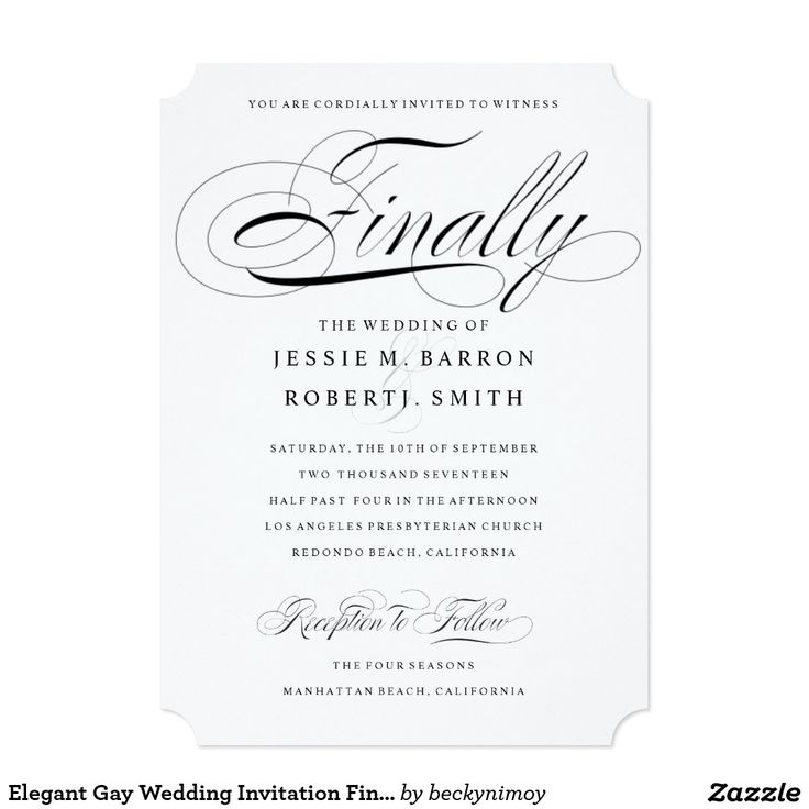 22 best Gay & Lesbian Wedding Invitations images on ...
