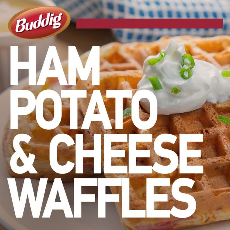 These savory waffles are the perfect dish for breakfast, lunch or dinner! Full Recipe: http://buddig.com/recipes/Ham-Potato-and-Cheese-Waffles