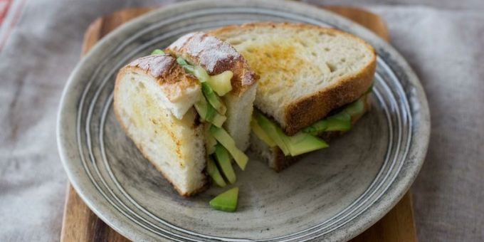 Toastie with Avovado and Cheese #iqs8wp #iquitsugar #sugarfree