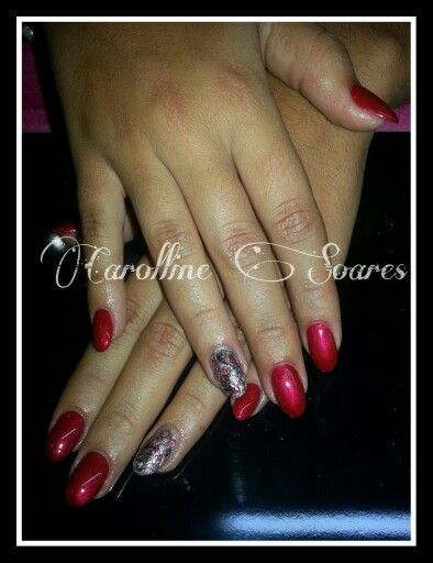 Red Diamond+Nail art