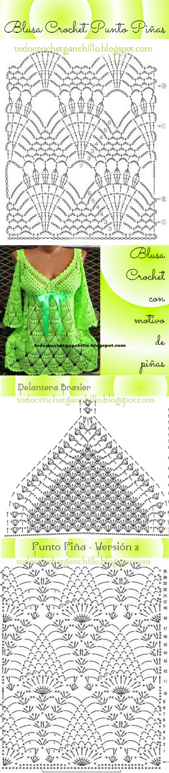 366 best Crochet - Indumentaria images on Pinterest | Crochet ...