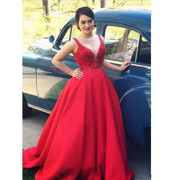 Charming Prom Dress,Red Prom Dress,Long Prom Dress,Sexy Prom