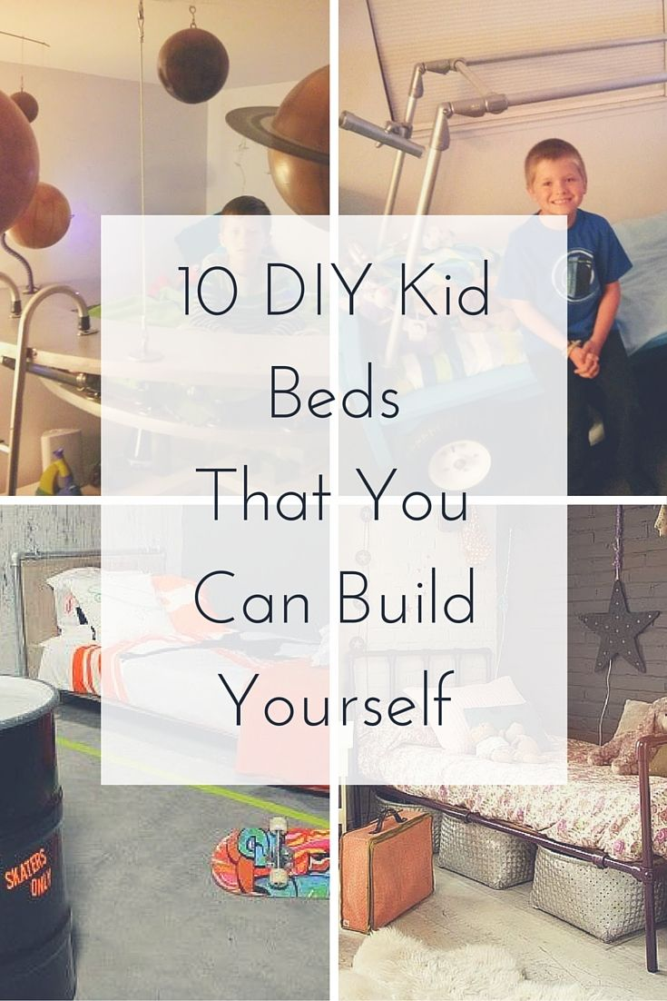 10 Unique Kid Beds That You Can Build Yourself  #KeeKlamp #pipebed