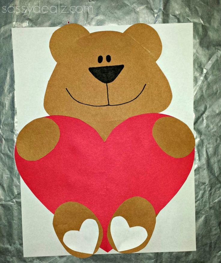 Открытка медвежонок с сердцем своими руками