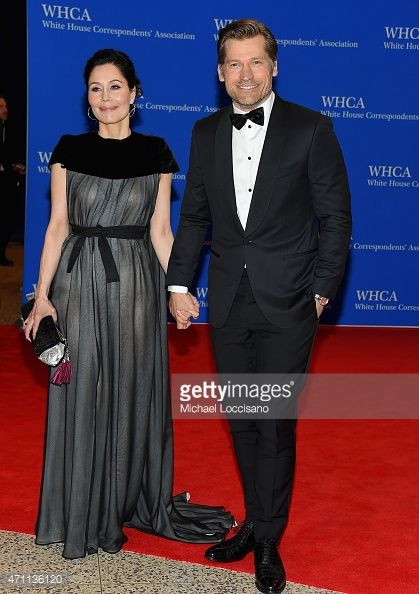 Nukaaka Coster-Waldau and Nikolaj Coster-Waldau attend the 101st Annual White House Correspondents' Association Dinner at the Washington Hilton on April 25, 2015 in Washington, DC.
