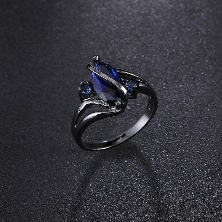 2016 neue Mode Oval Gekreuzte Weiblichen Ring Schwarz vergoldet Schmuck Vintage Hochzeit Ringe Für Frauen Männer