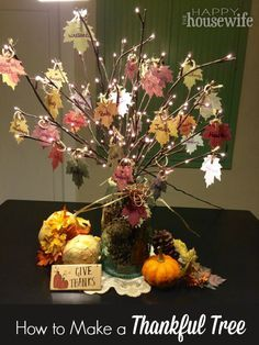How to Make a Thankful Tree | The Happy Housewife