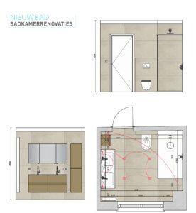 25+ beste ideeën over Badkamer plattegrond op Pinterest - Kleine ...