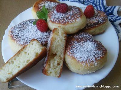 Pani na deser - Przepisy kulinarne: BARDZO PUSZYSTE PLACUSZKI