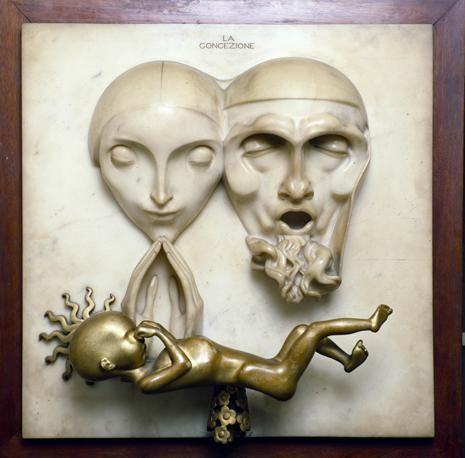 Adolfo Wildt  La concezione, (Conception) 1921