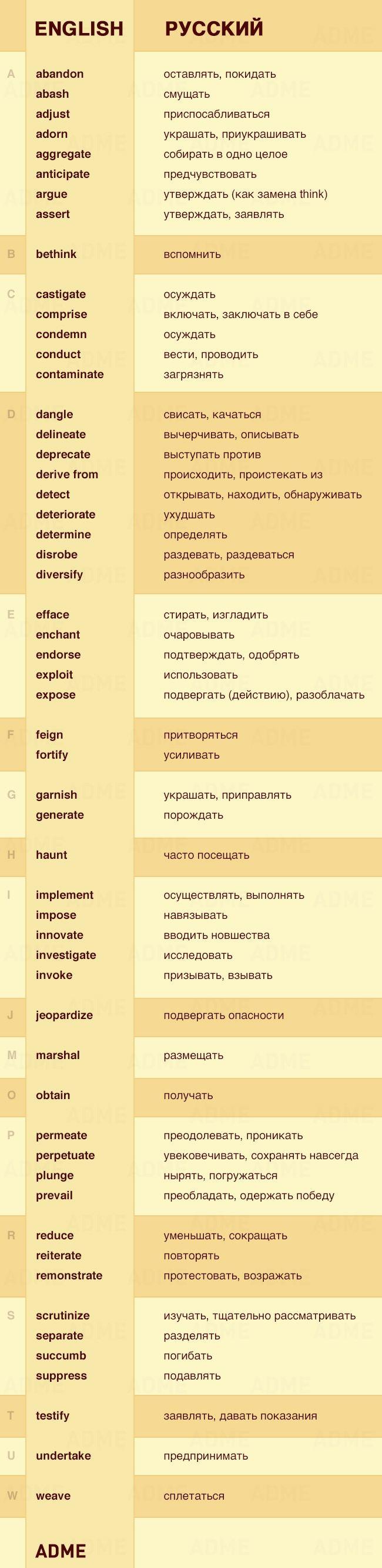 55 не очень известных, но полезных глаголов на английском.. Обсуждение на LiveInternet - Российский Сервис Онлайн-Дневников