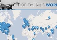 Mapa interativo mostra todos os locais mencionados nas músicas do Bob Dylan