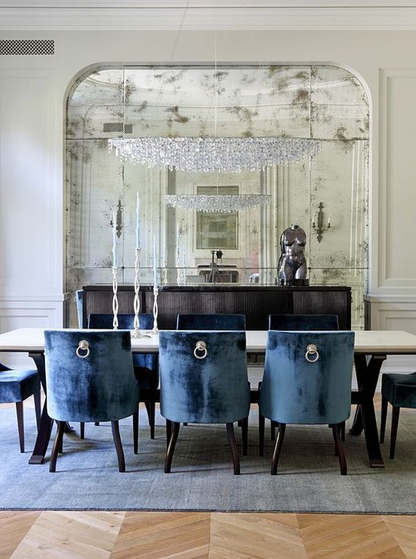 Superior Traditional Dining Room Design In Navy Blue | Modern Dining Room Designs  For The Super Stylish