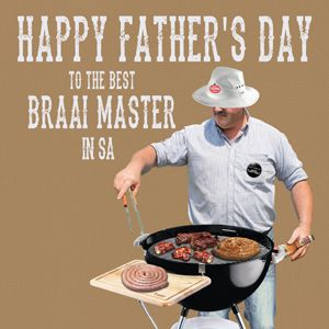 Braai Master fathers day Card for Kinky Rhino Greeting Cards in South Africa #southafricancard #southafrica #card #fathersday #boerewors #weber #braai #braaimaster #dad #father #boerewors #south #africa