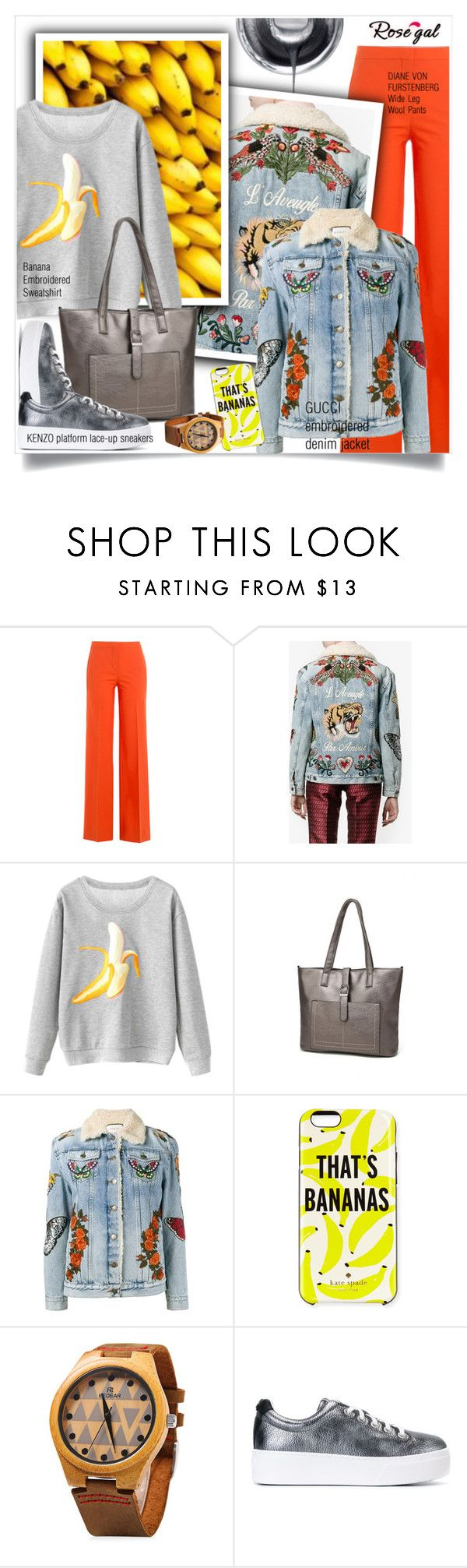 """""""Winter Fashion"""" by sweetsely ❤ liked on Polyvore featuring Diane Von Furstenberg, Gucci, Kate Spade, Kenzo, platformsneakers and polyvoreeditorial"""