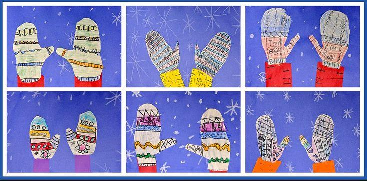 Fun art idea for winter