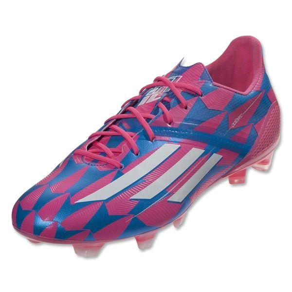 adidas F50 adizero FG (Neon Pink/Running White/Solar Blue)