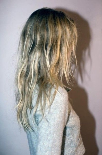 Blonde Highlighted Layered Waves