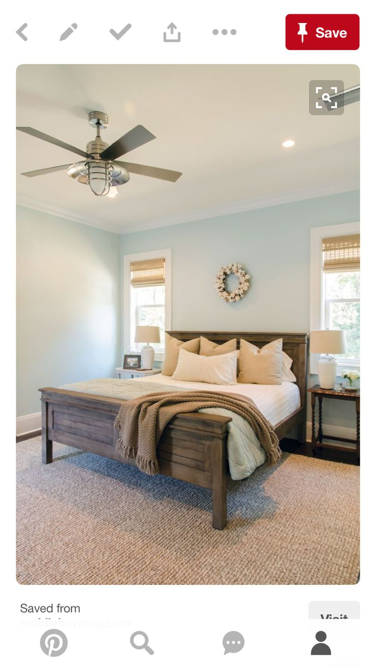 This Bed In King Size For Master Bedroom! Built So No Box Spring Is Needed
