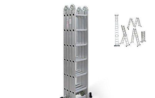 WORHAN® 6.7m Échelle Aluminium Multifonction Polyvalente Escabeau Échafaudage Multi-usage ALU Modulable Pliable KS6.7: 6.7m Échelle…