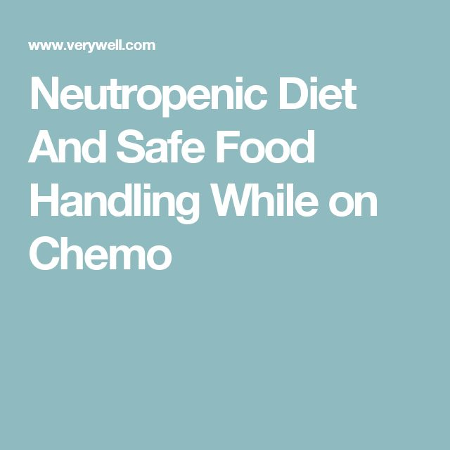 Neutropenic Diet And Safe Food Handling While on Chemo