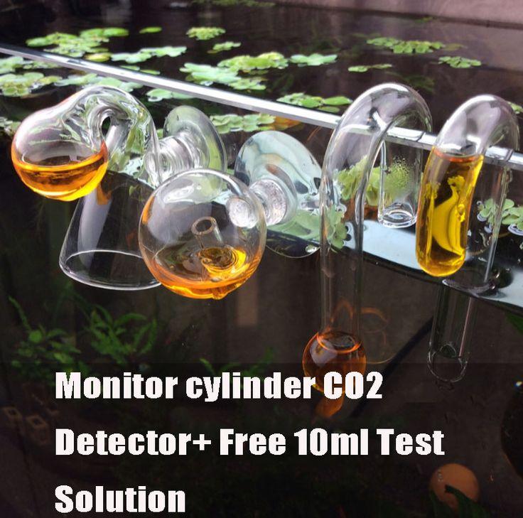 monitor cylinder CO2 detector 10ml Aquarium CO2 Aquarium CO2 long-term  concentration detection liquid