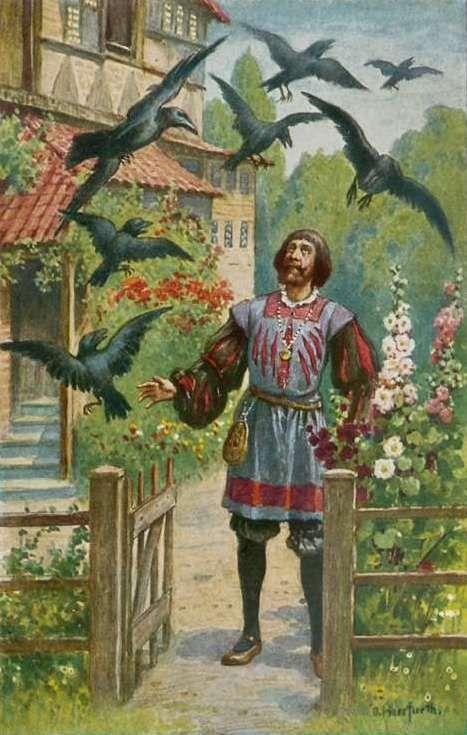 Oskar Herrfurth, Die sieben Raben, Brüder Grimm