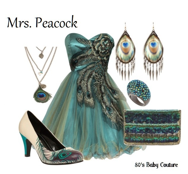 Mrs. Peacock costume ideas
