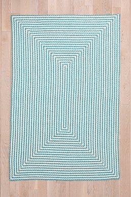 Indoor/Outdoor Square Grid Rug