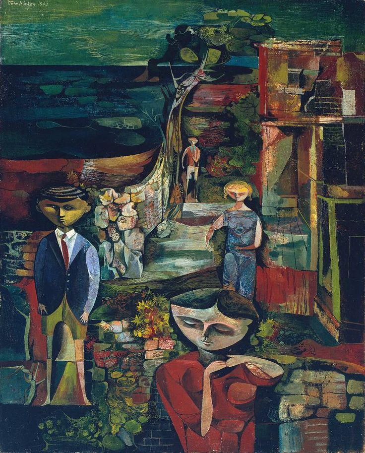 Children by the Sea, 1945, John Minton. English (1917 - 1957)    (Source: tate.org.uk)