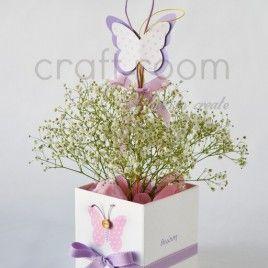 ροζ πεταλούδα κασπό & στικ