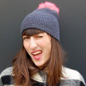Kit tricot by WoolKiss : Bonnet en laine mérinos super facile à tricoter
