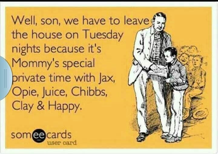 Hahahah. This is cute. But Sean doesn't need to leave.. we both absolutely love SOA! And my son's in bed way before ten.