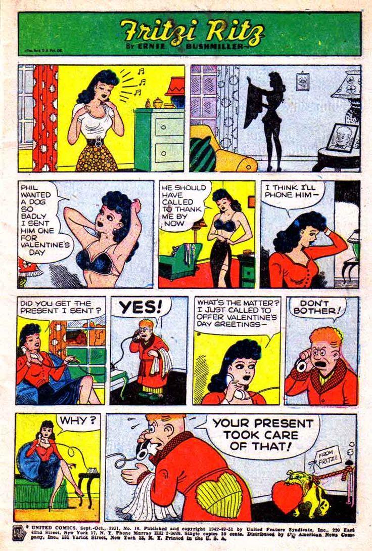 Nancy And Sluggo Comic Porn - Fritzi Ritz by Ernie Bushmiller. Classic ComicsNancy ...