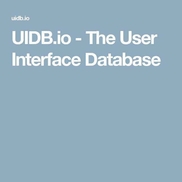 UIDB.io - The User Interface Database