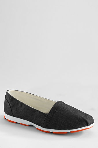 womens gatas canvas slip on shoes from lands end fashion