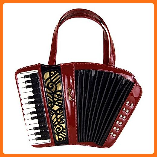 KDHJJOLY Practical Womens Retro Accordion Instrument Handbag Exquisite Carving Shoulder bag Red Chic - Shoulder bags (*Amazon Partner-Link)